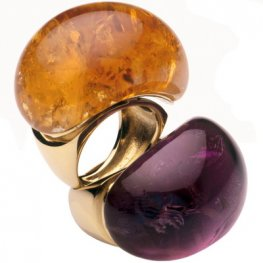 Citrine Cocktail Ring - A bold Babol ring