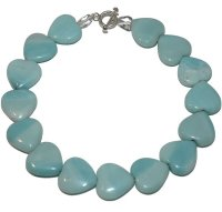 Amazonite and Rock Crystal necklace with heart amazonites