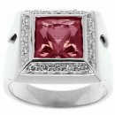 A Stunning White Gold Pink Tourmaline and Diamond Ring. 18k Gold