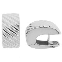 Italian Designer White Gold Earrings - 14.20g. 18kt - 750.