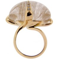 Rutillated quartz ring- Antidoto 18ct