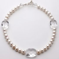 Pearl and Clear Quartz Necklace