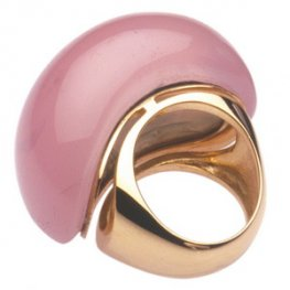Babol A large Pink Opal Cocktail ring