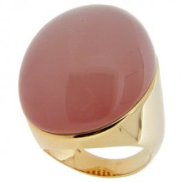 An Amazing Red Rose Quartz Single Stone Ring. 18ct Yellow Gold