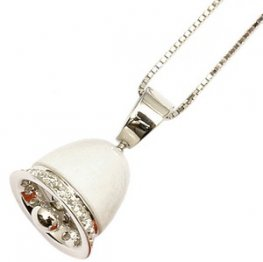 A White Opal and diamond pendant with an 18ct chain.