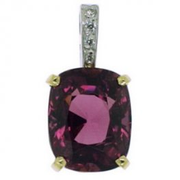 Diamond and Garnet Pendant