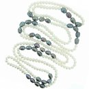 White and grey fresh water pearl necklace