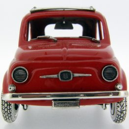 Vintage Red Fiat 500 - Passion - Silver and Enamel