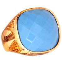 A contemporary turquoise Ring set in 18ct yellow Gold