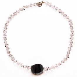 Obsidian and Rock Crystal Necklace