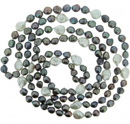 Grey and white fresh water pearl necklace.