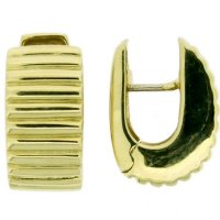 Fancy Yellow Gold Earclips - 18ct