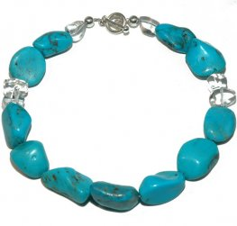 Turquoise and Rock Crystal necklace