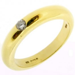 Brilliant Cut Diamond Single Stone Ring 0.10cts 18kt Yellow Gold