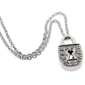 An 18k White Gold Diamond Locket Pendant and 18ct chain