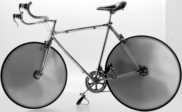 Italian Time trial racing bicycle - Sterling Silver