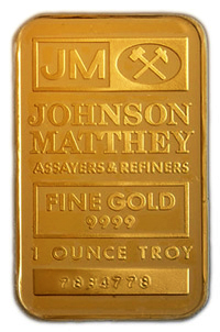 Twenty four carat Troy ounce 9999 pure Fine GOLD ingot